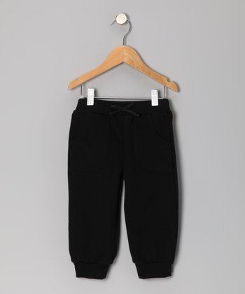 Black Capri Sweatpants - Toddler & Girls