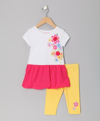 Pony Pink Flower Dress & Leggings - Toddler & Girls