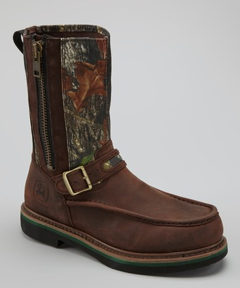 Brown Camo Mossy Oak Steel-Toe Gaucho Boot - Men