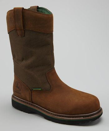 Tan Waterproof & Electrical Hazard Steel-Toe Boot - Men
