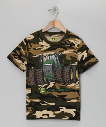 Brown Camouflage Tractor Tee - Boys