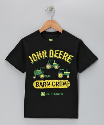 Black 'Barn Crew' Tee - Boys