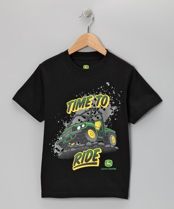Black 'Time to Ride' Tee - Boys