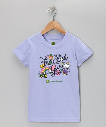 Purple 'Tractor Girl' Tee - Girls