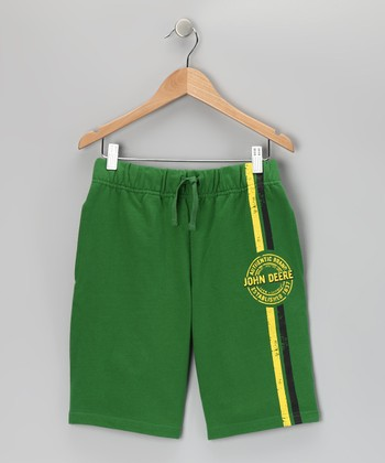 Green Terry Shorts - Toddler & Kids