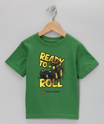 Green 'Ready to Roll' Tee - Toddler