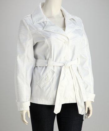 White Trench - Plus
