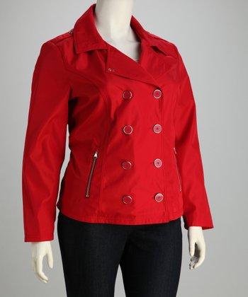 Red Peacoat - Plus