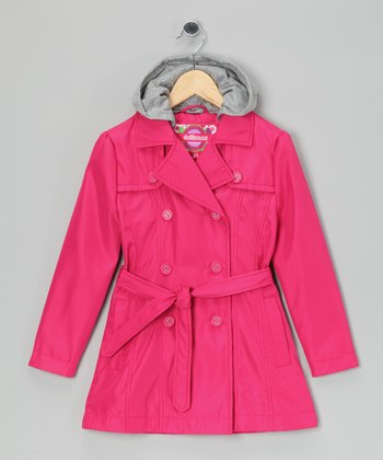 Hot Pink Trench Coat - Toddler & Girls