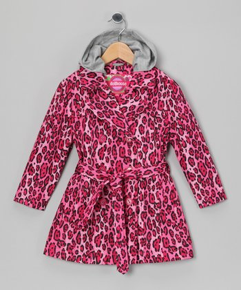 Leopard Trench Coat - Toddler & Girls