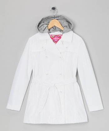 White Trench Coat - Toddler & Girls