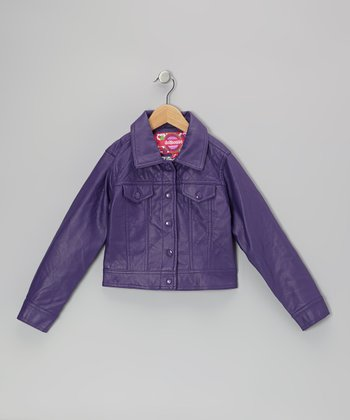 Plum Quilted Jacket - Toddler & Girls