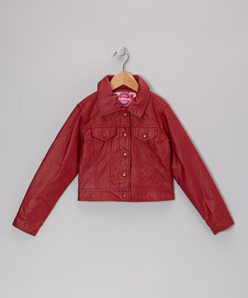 Red Quilted Jacket - Toddler & Girls