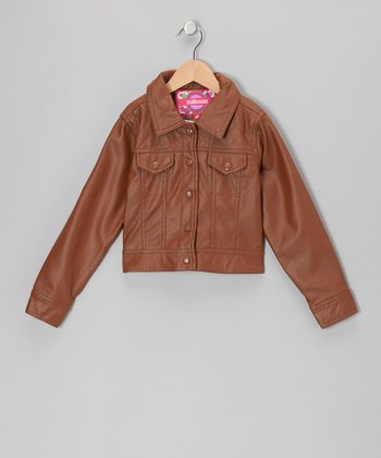 Toffee Quilted Jacket - Toddler & Girls