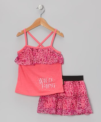 Pink 'Wild Thing' Chiffon Top & Skirt - Infant, Toddler & Girls