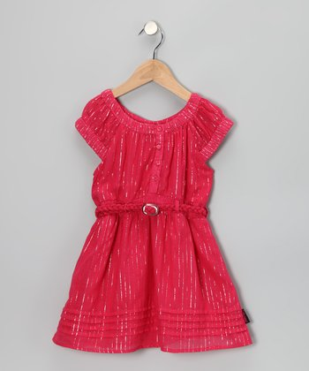 Red Glitter Dress - Girls