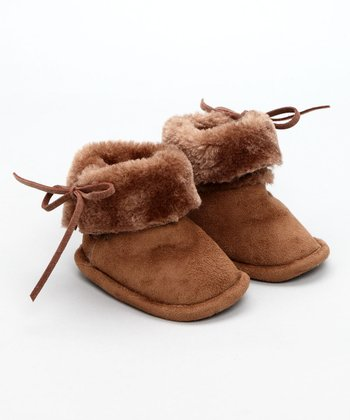 Egg Baby - Camel Faux Sheerling Booties