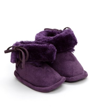 Egg Baby - Grape Faux Sheerling Booties