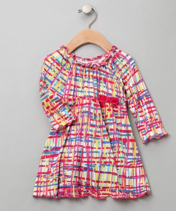 Baby Nay - Plaid Peasant Dress