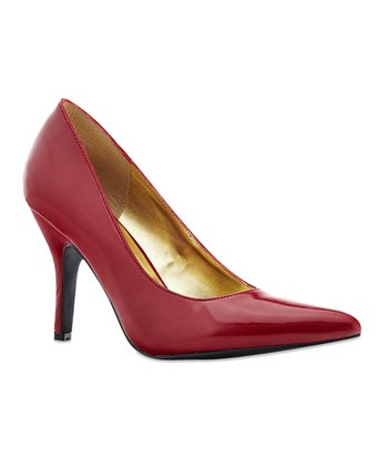 Red Patent Nicki Pump