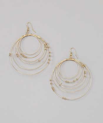 Gold Tiered Hoop Earrings