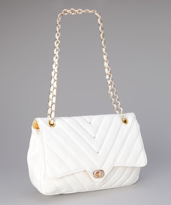 White Leah Shoulder Bag