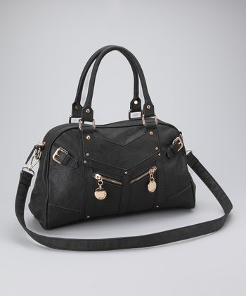 Black Saran Satchel