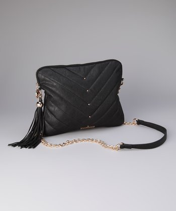 Black Kim Tablet Crossbody Bag