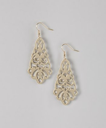 Gold Damask Filigree Earrings