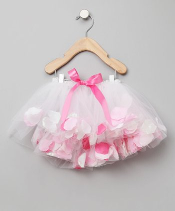 Fairy Finery - White Tulle Fairy Flower Skirt