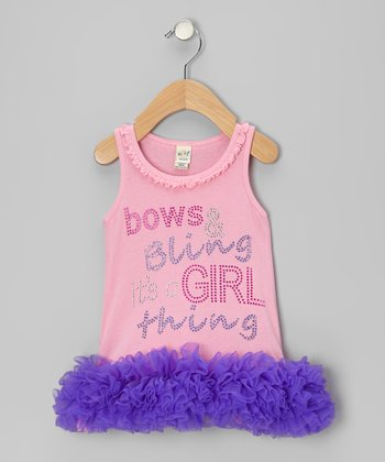 Bubblegum 'Bows & Bling' Tutu Dress - Infant, Toddler & Girls