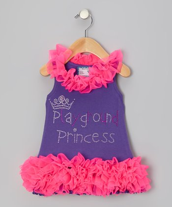 Purple Playground Princess Ruffle Dress - Infant, Toddler & Girls