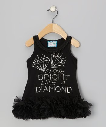Black 'Like a Diamond' Tutu Dress - Infant, Toddler & Girls