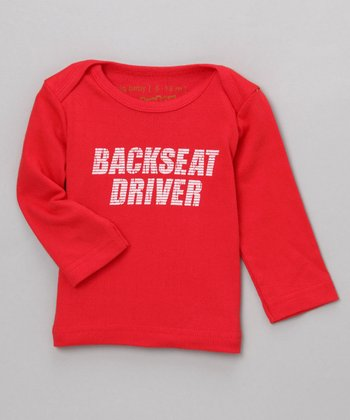 "Organic ""Backseat Driver"" Long-Sleeve Tee"