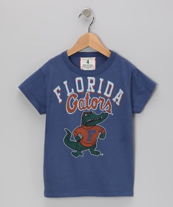 Washed Royal 'Florida' Tee - Toddler & Boys