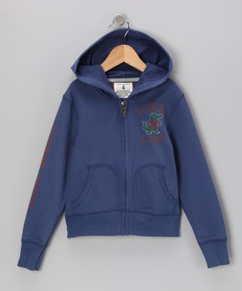 Royal 'Florida' Fighting Gator Zip-Up Hoodie - Boys