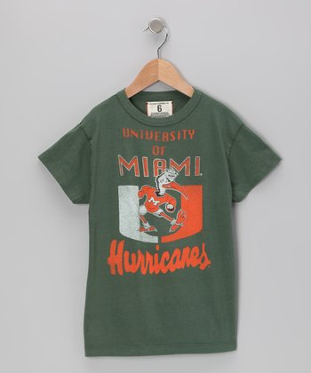 Vintage Green 'Miami' Mascot Tee - Toddler & Boys