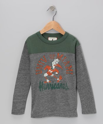Heather Gray 'Miami' Football Tee - Toddler & Boys