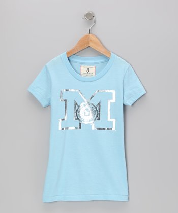 Lake Blue Michigan Tee - Girls