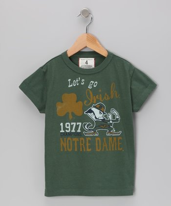 Vintage Green 'Go Irish Notre Dame' Tee - Toddler & Boys