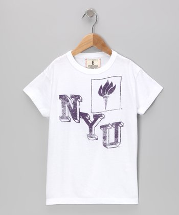 White 'NYU' Tee - Toddler & Boys