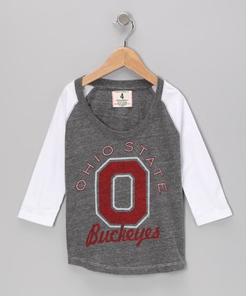 Heather Gray 'Ohio State' Raglan Tee - Toddler & Girls