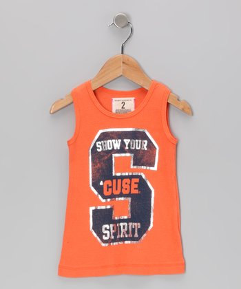 Burnt Orange 'Syracuse' Tank - Toddler & Girls