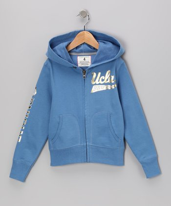 Ocean 'UCLA' Zip-Up Hoodie - Toddler & Kids