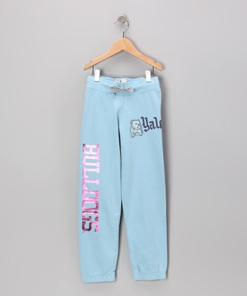 Lake Blue 'Bulldogs' Yale Sweatpants - Girls