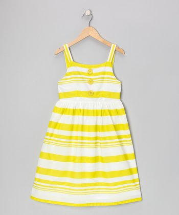 Lime Stripe Dress