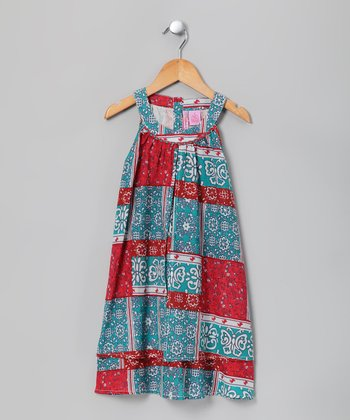 Fuchsia & Teal Swing Dress - Girls