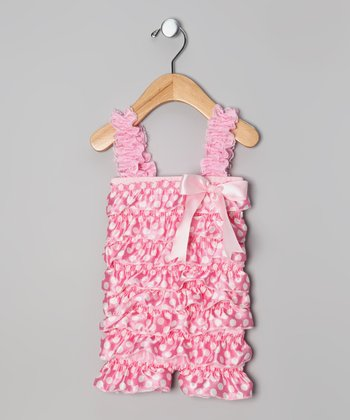 Pink Polka Dot Ruffle Romper - Infant & Toddler