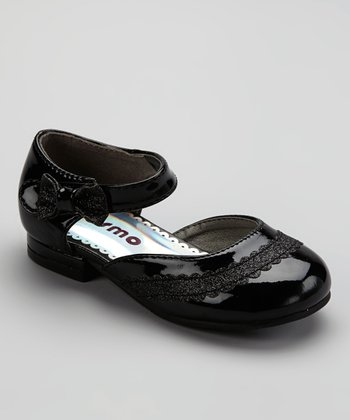 Black Patent Sparkle Bow Mary Jane