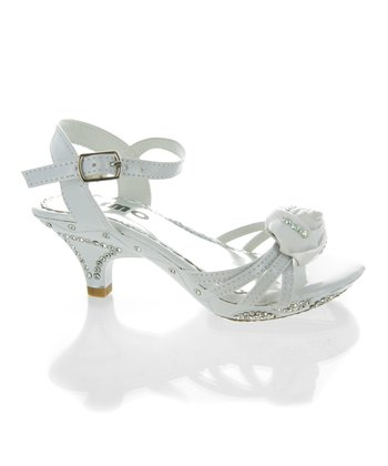 White Patent Rose Sandal